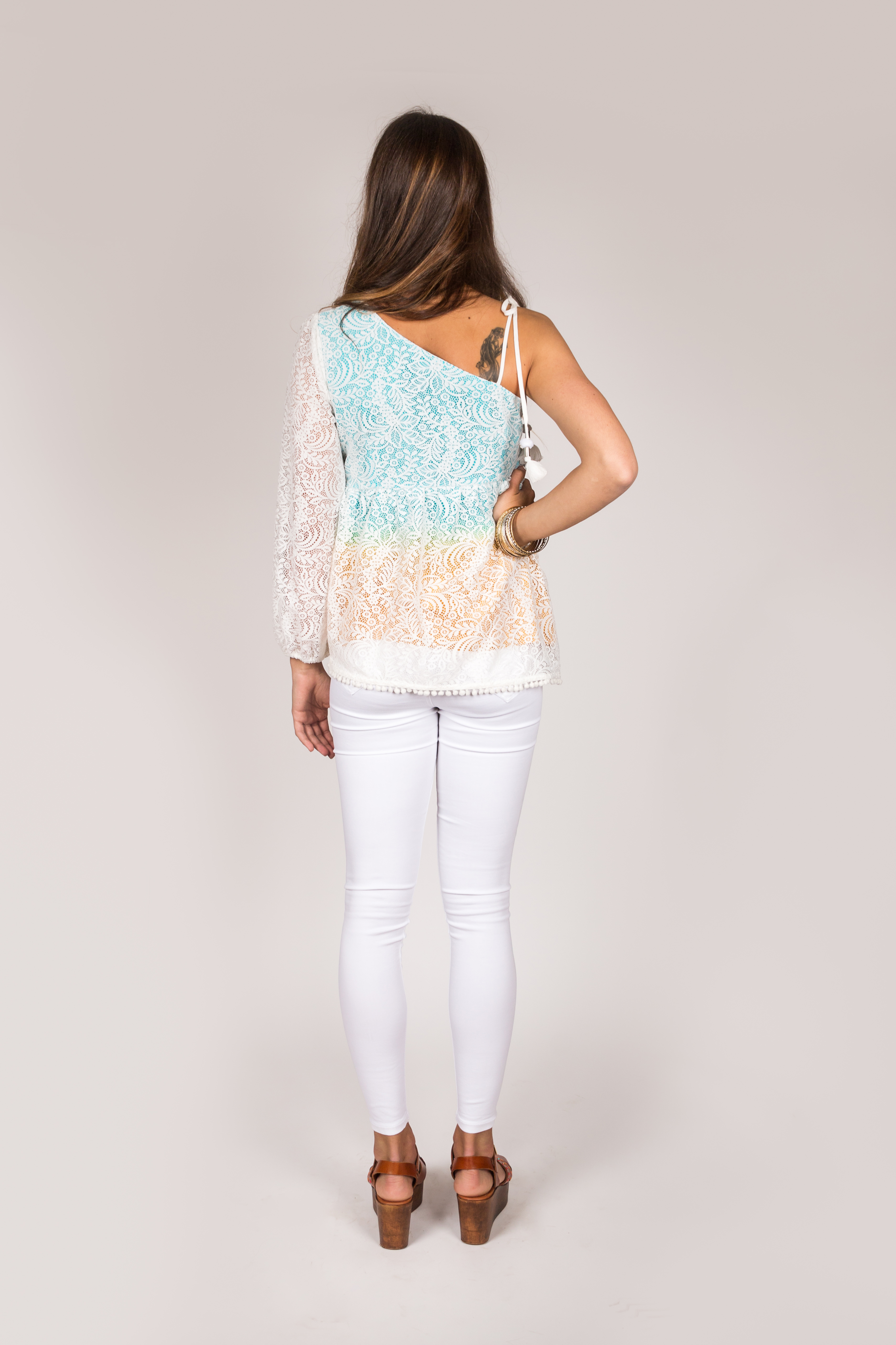 Shoklett: Swirls of Petals Asymmetrical Sleeve Ashley Tunic SOLD OUT