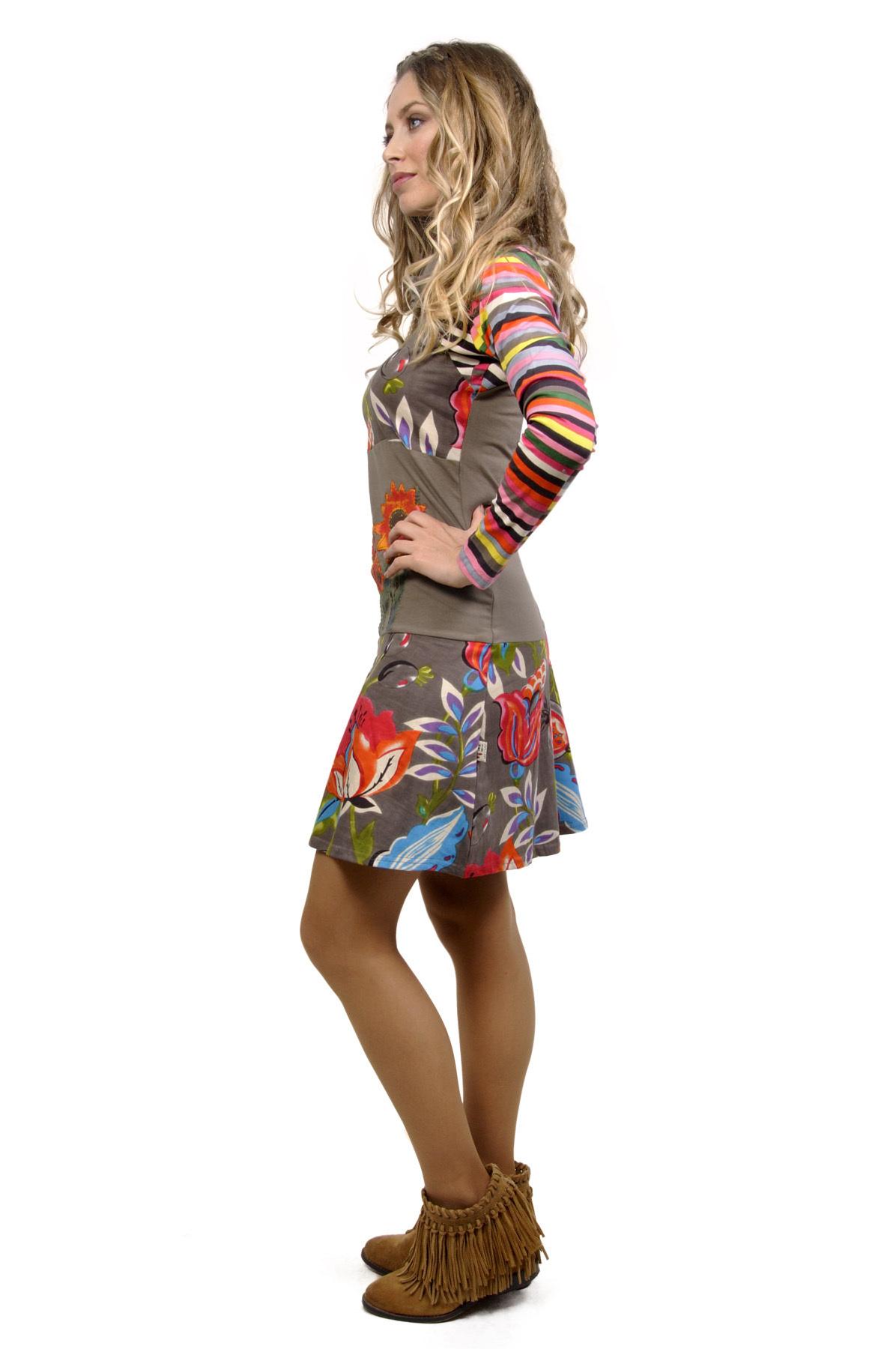 Savage Culture:  Luela Color Block Bouquet Dress (1 Left!)