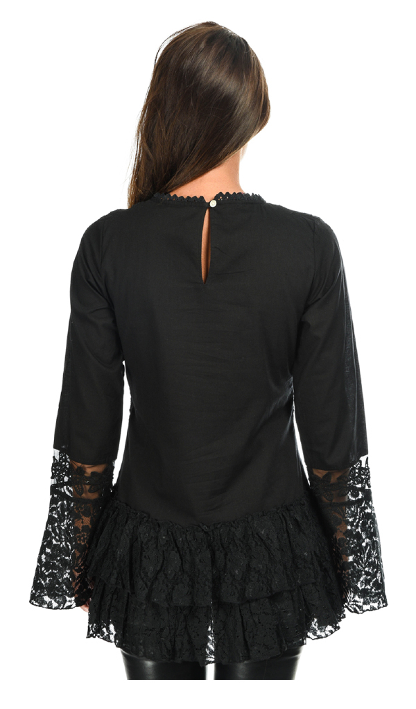Savage Culture: Luscious Montse in Embroidery & Ruffles Tunic (1 Left!)