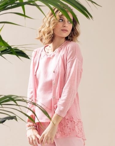 Maloka: Rosette Shoulder Linen Cotton Top (Only 1 Left in Pink Rose!) MK_ARACI