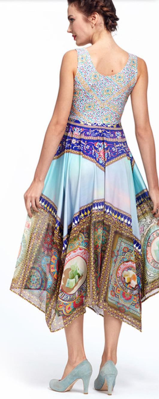 IPNG: Pink Lotus Lokoometric Flared Illusion Dress