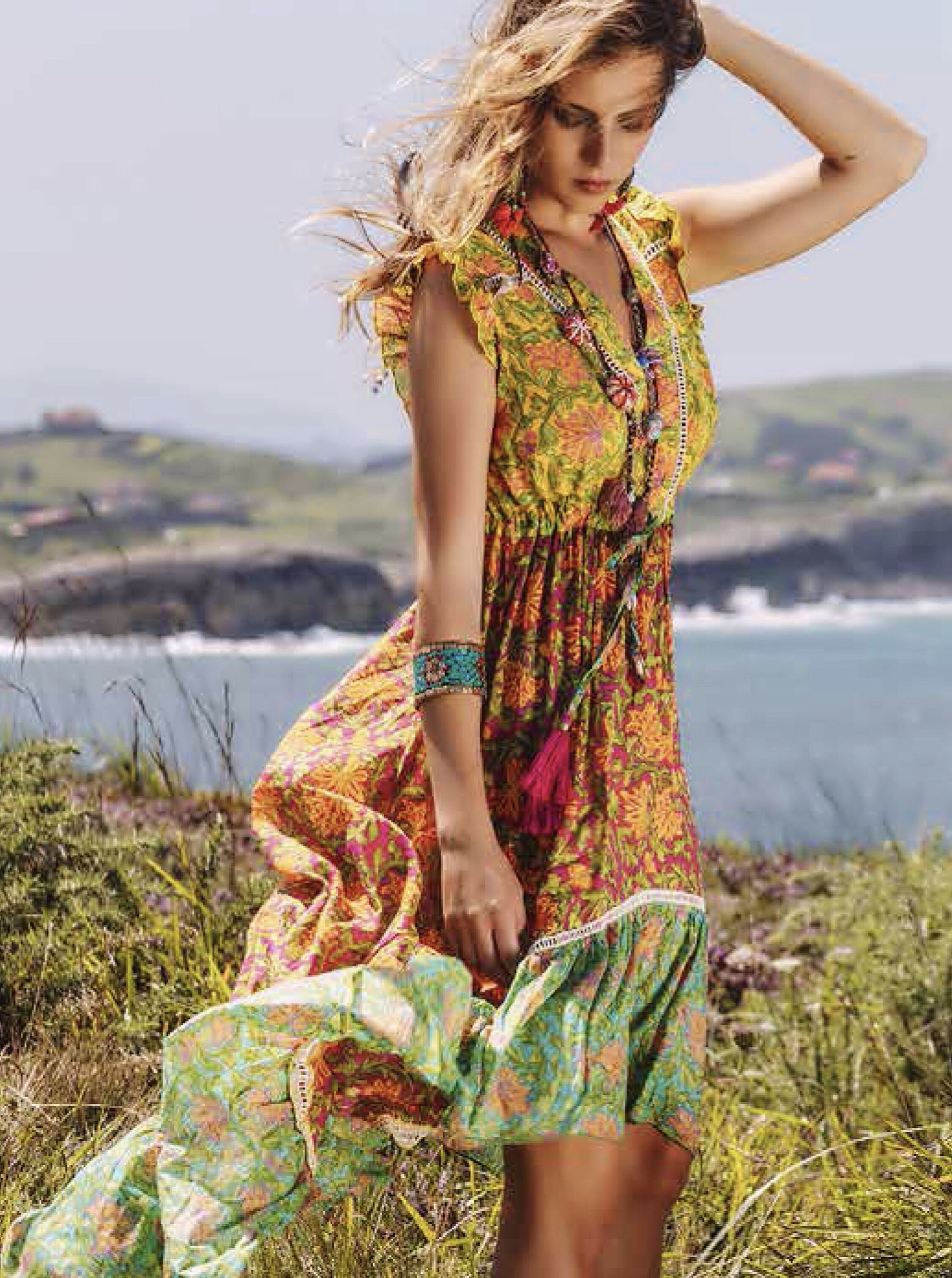 Savage Culture: Lily Of The Incas Cotton High Low Sundress Yapen SAVAGE_36720