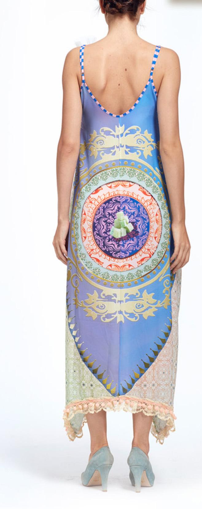 IPNG: Pink Lotus Lokoometric Bow Four Corners Illusion Dress