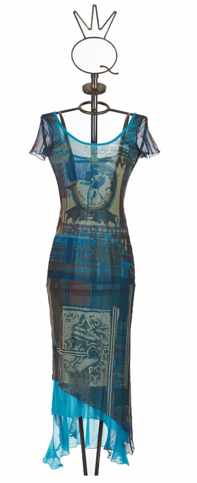 Save The Queen: Turquoise Sand Illumination Dress STQ_667
