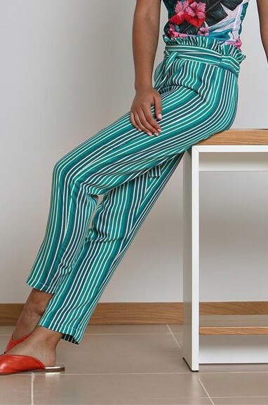 Paul Brial: Belted High Waisted Bamboo Pant (Few Left!) PB_BAMBOU