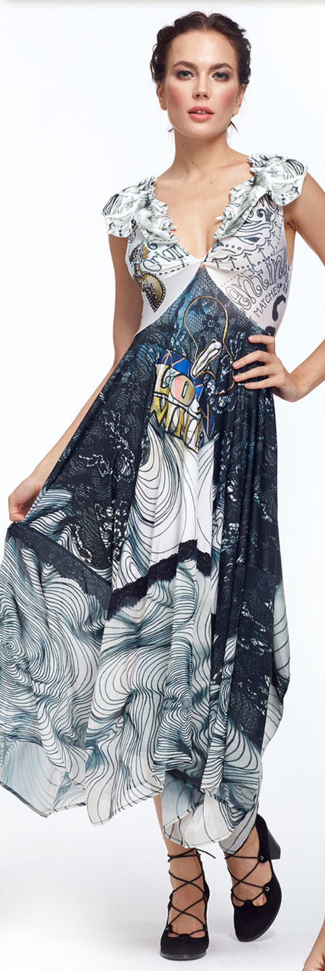 IPNG: Love Me Black Sweetheart Asymmetrical Maxi Dress (Some Ship Immed!) IPNG_LMBDFC-076_N1