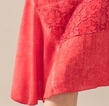 Maloka: Fire Red Talisman Asymmetrical Midi Dress