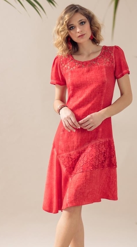 Maloka: Fire Red Talisman Asymmetrical Midi Dress MK_TALISMAN