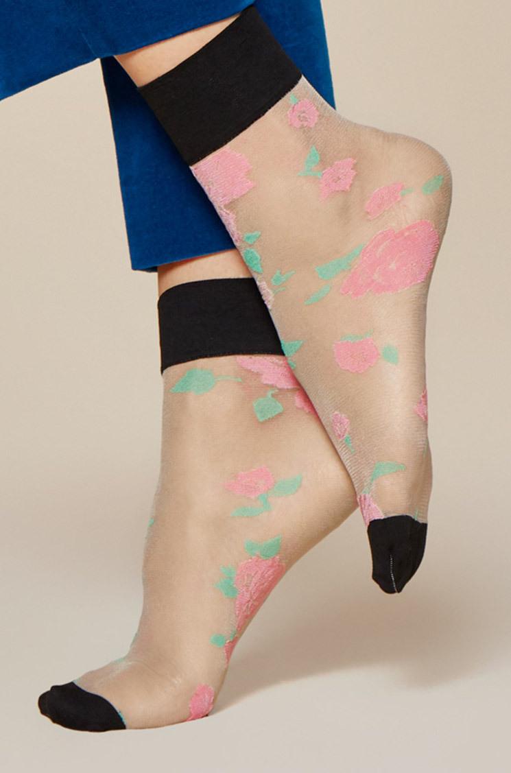 Fiore: Colorblock Blossom Trouser Socks SOLD OUT FIO_BLOSSOM