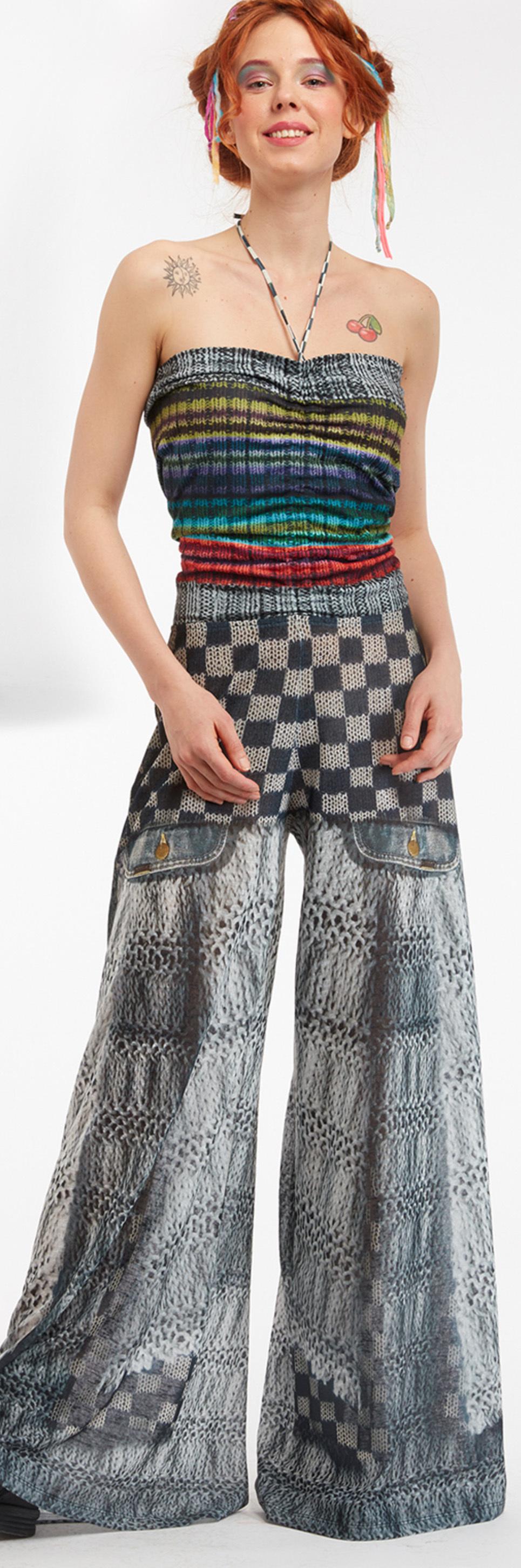 IPNG: Destructive Denim & Knit Illusion Grand Familia Jumpsuit (Converts to overalls!) IPNG_GFYPD-063