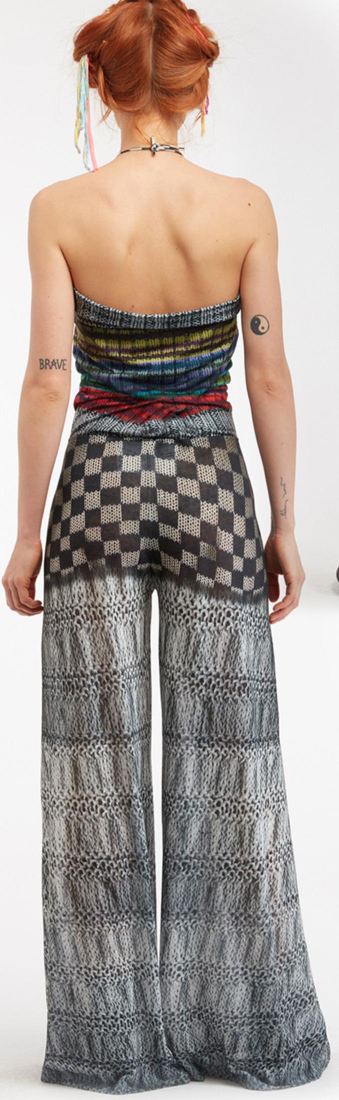 IPNG: Destructive Denim & Knit Illusion Grand Familia Jumpsuit (Converts to overalls!)