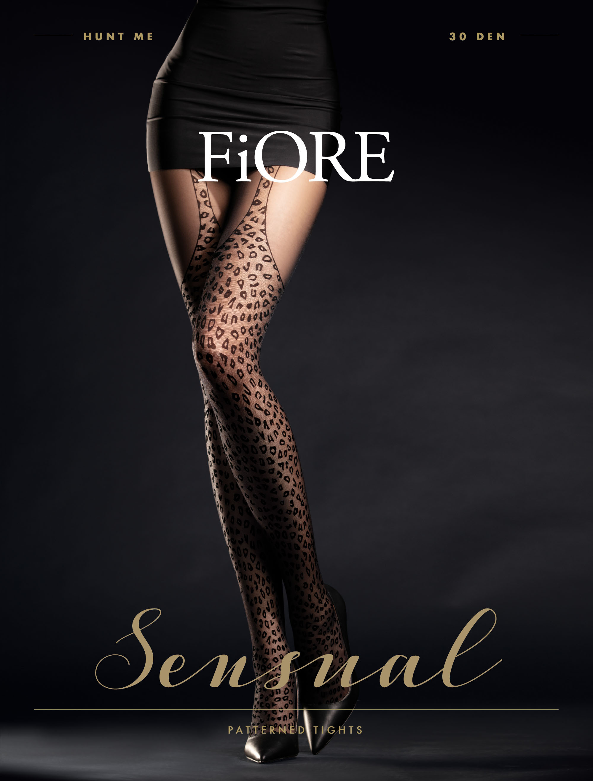 Fiore: Wild Feline Patterned Tights