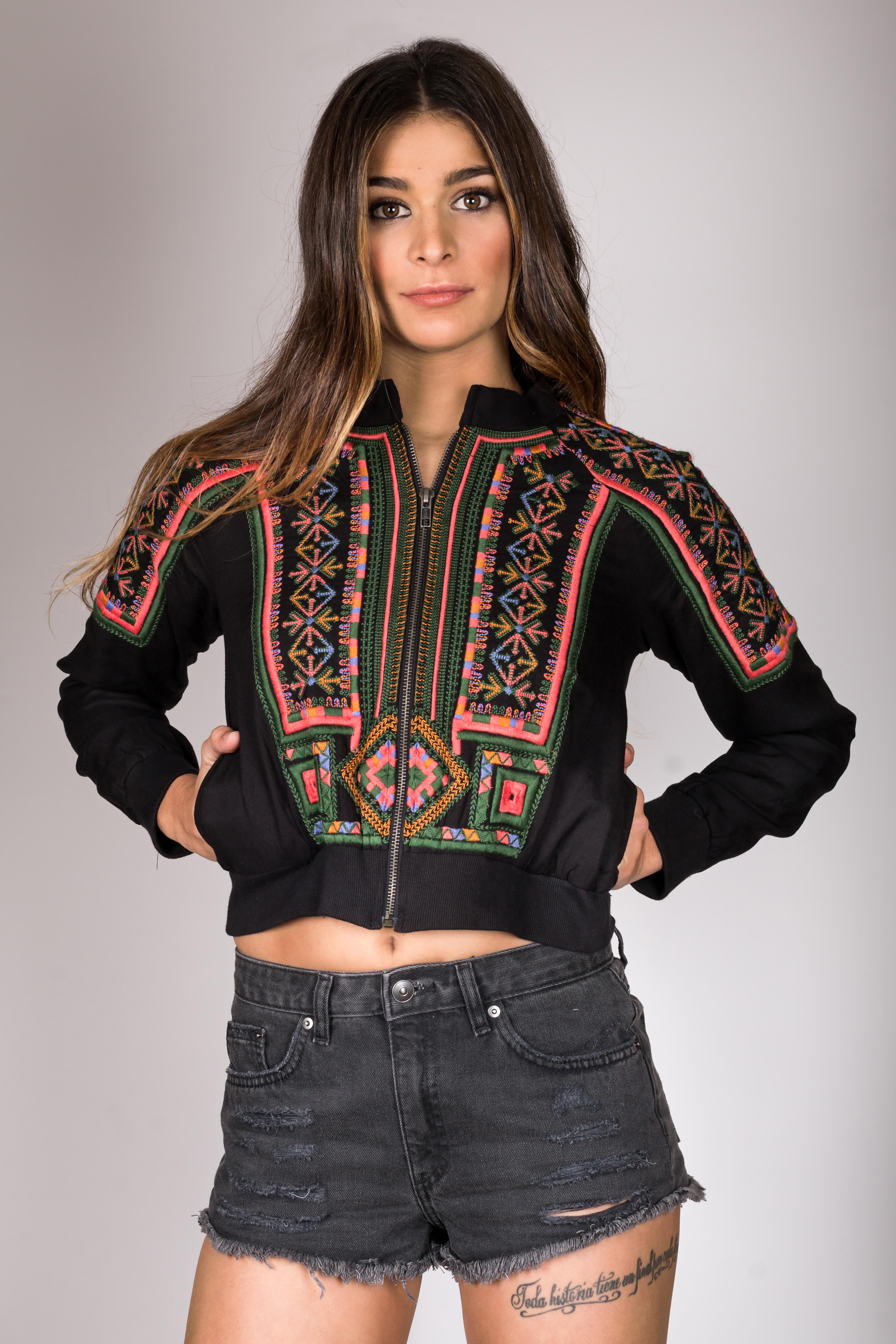Shoklett: Little Black Embroidered Boho Jacket SOLD OUT SHOKLETT_10174S19JK