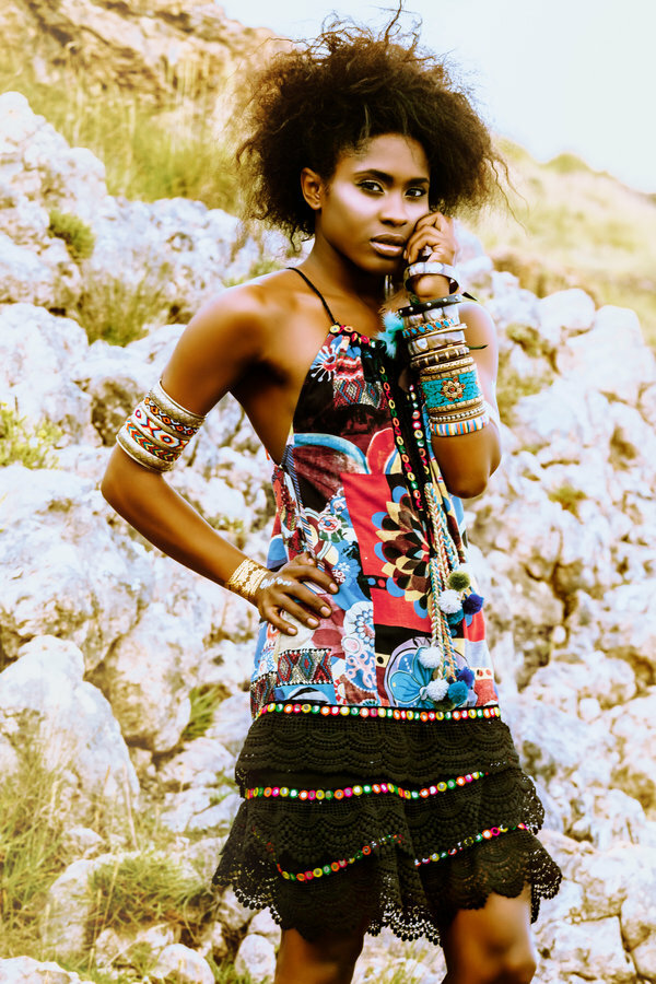 Savage Culture: Prism Flower Pom Pom Dress/Tunic SAVAGE_36064