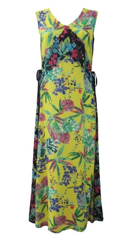 Maloka: Pink Eucalyptus Patchwork Maxi Dress