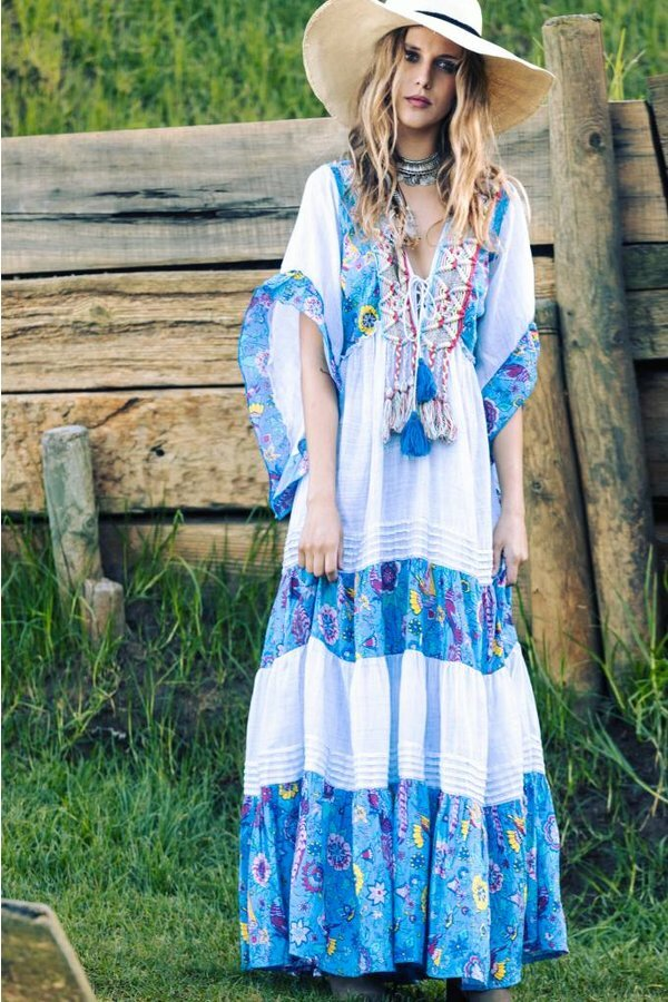Savage Culture: Flowers Of The Sea Maxi Dress/Cover Up SAVAGE_36688