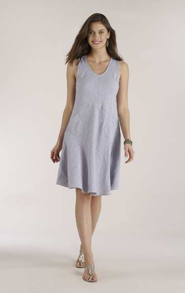 Luna Luz: Linen Tank Dress With Pockets SOLD OUT LL_769