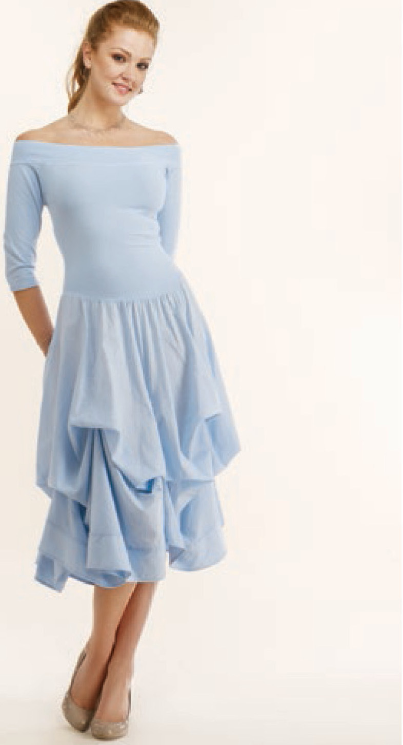 Luna Luz: Tied & Dyed Off The Shoulder Godet Dress (NEW Colors! )