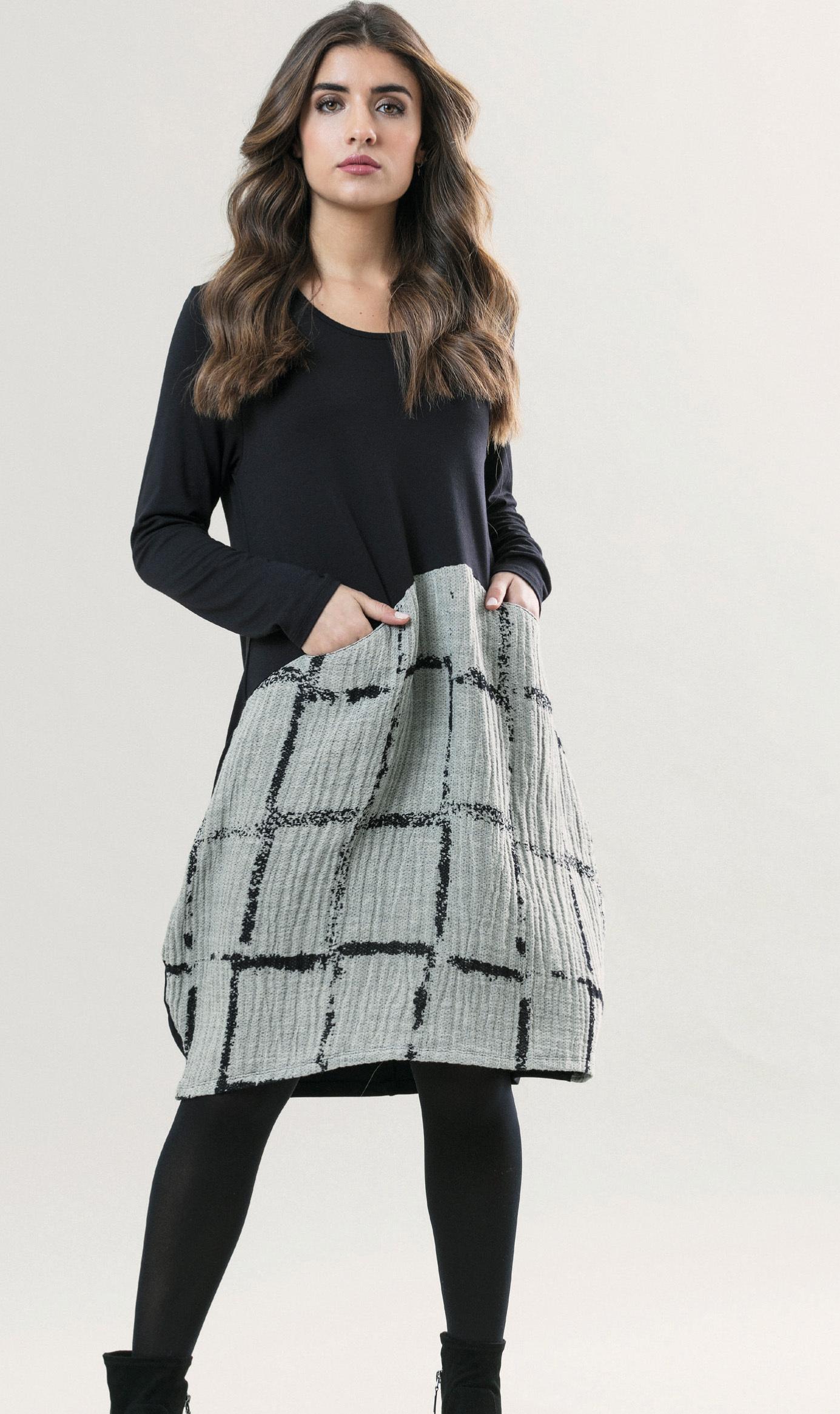 G!oze France: Bubble Chat Pocket Midi Dress (Few Left!) G_CHAT_N1