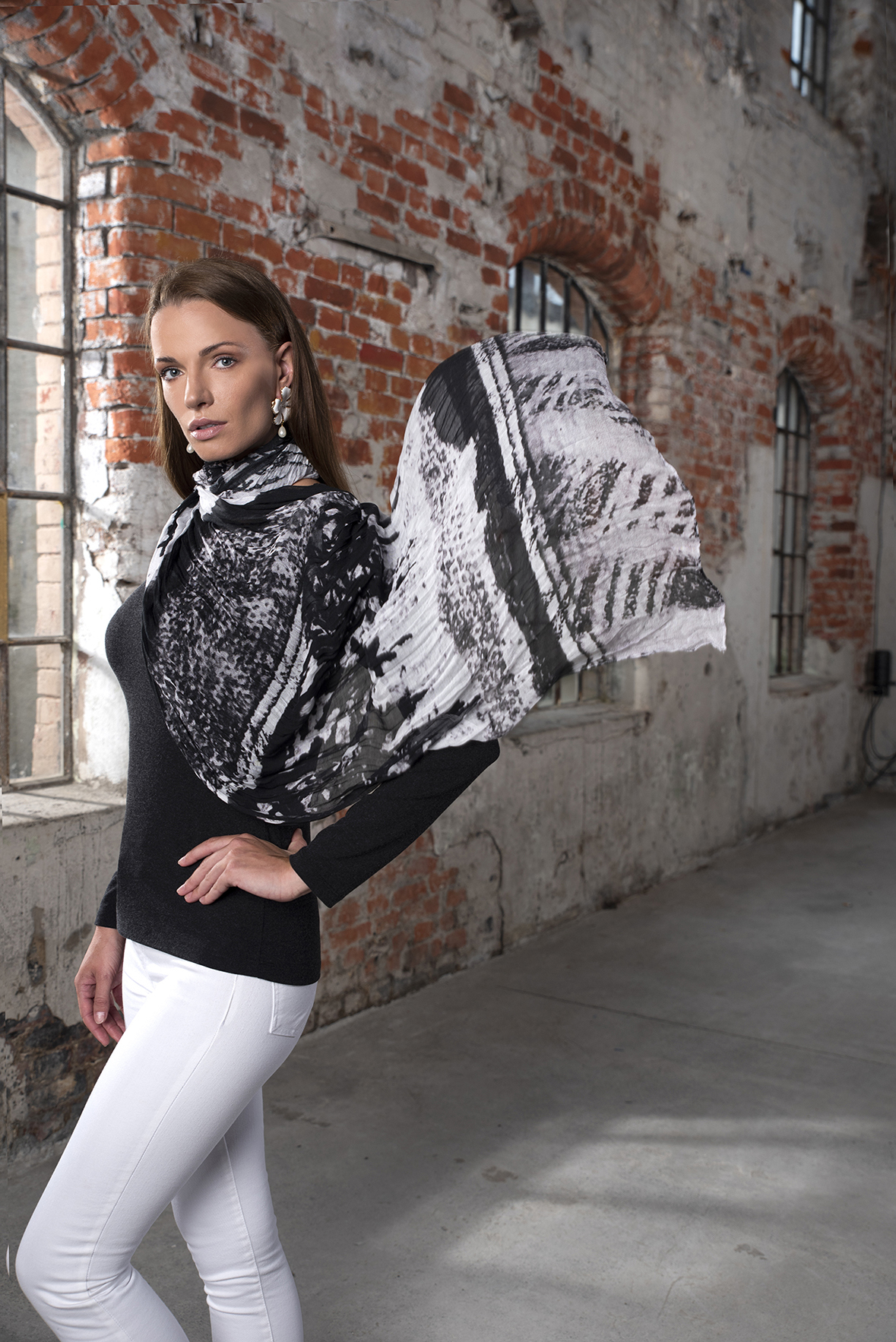 Simply Art Dolcezza: Abstract Art Scarves (Few Left!) Dolcezza_SimplyArt_Scarf_N2