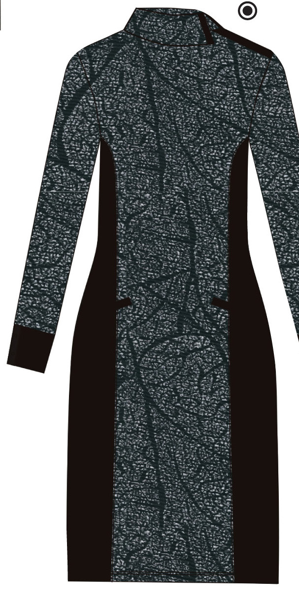 Maloka: Romantic Rainstorm Jacquard Contrast Midi Dress
