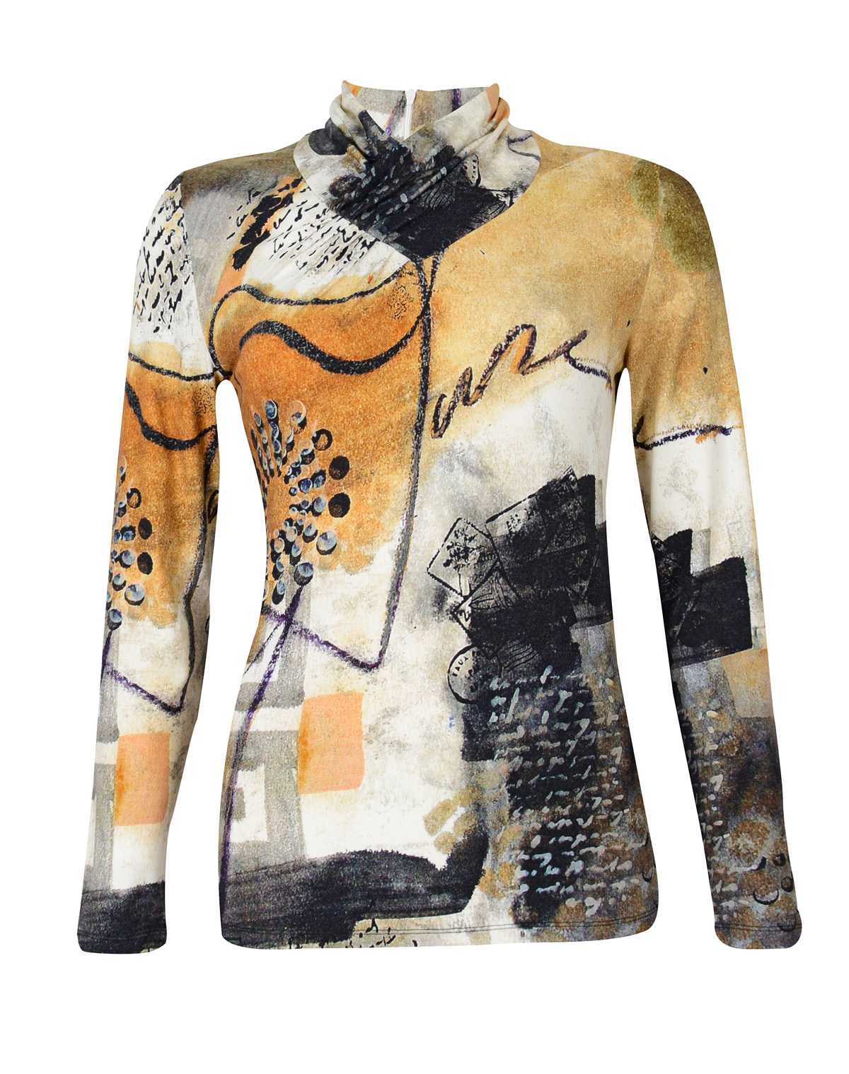 Simply Art Dolcezza: Romantic Rhythm Quilled Abstract Art Tunic SOLD OUT Dolcezza_SimplyArt_59602