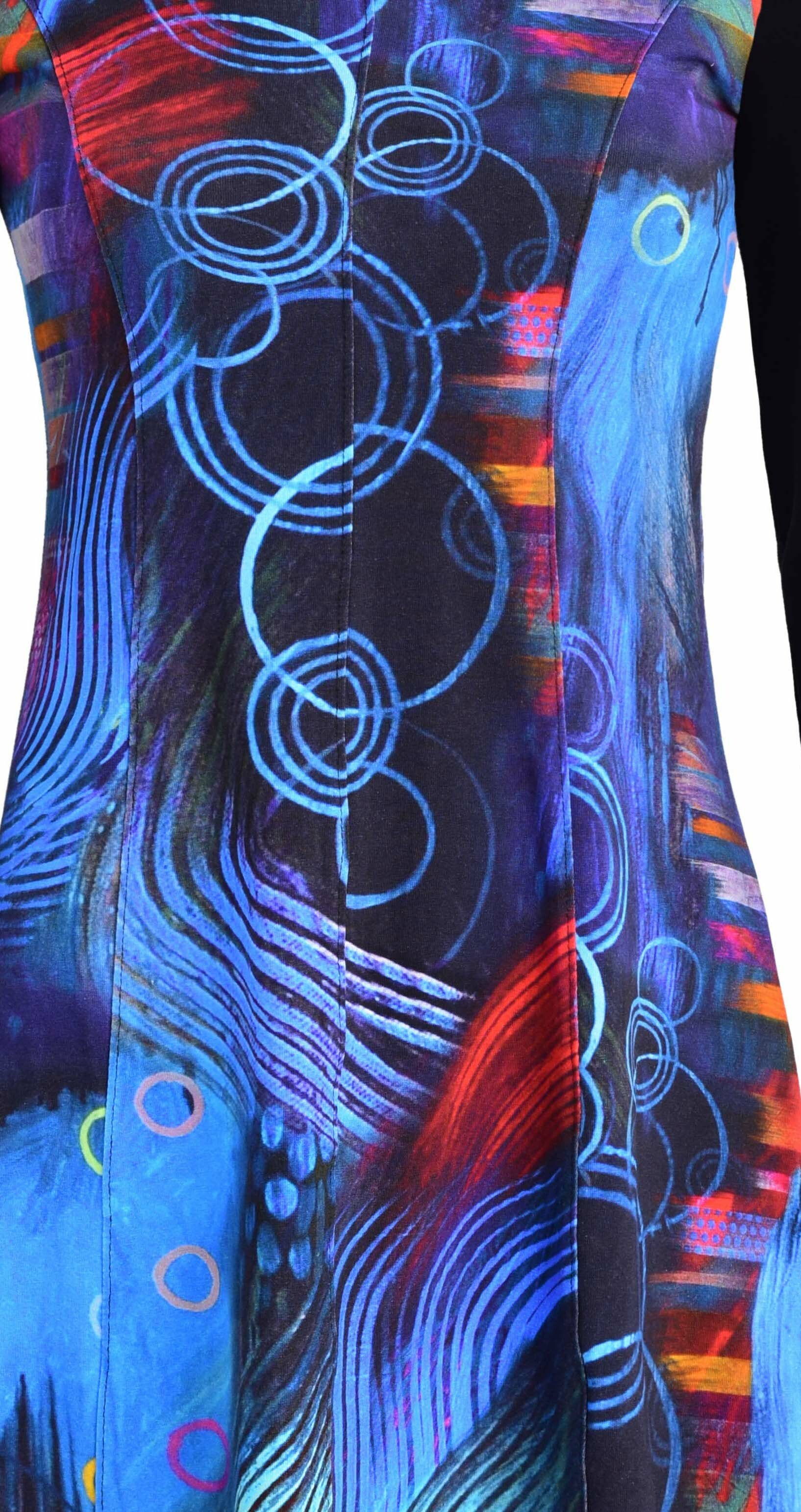 Simply Art Dolcezza: Distilling Color Fit & Flare Abstract Art Dress