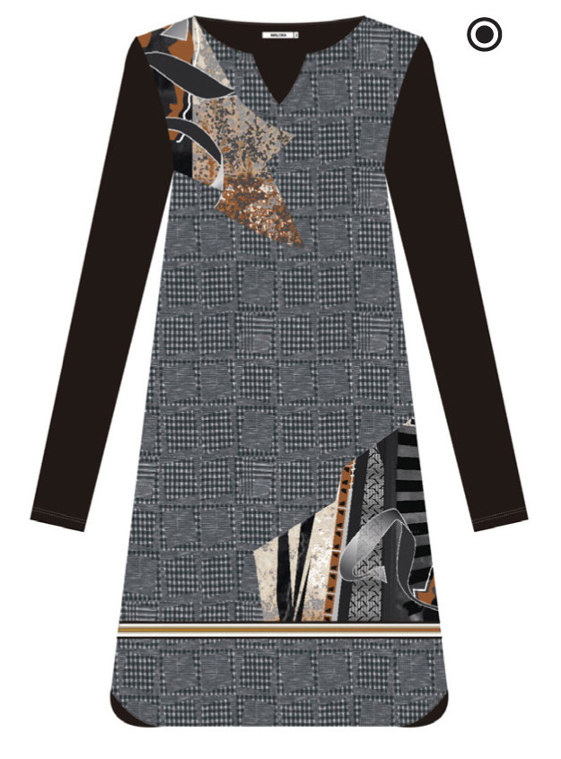 Maloka: Jazz Girl Printed Jacquard Stretch Slip Dress