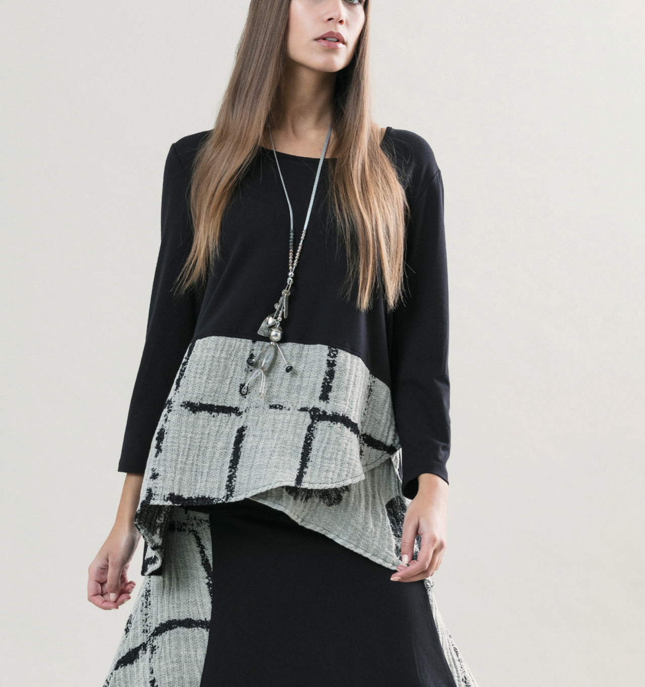 G!oze France: Bubble Rhapsody Asymmetrical Tunic (3 Left!) G_CESAR