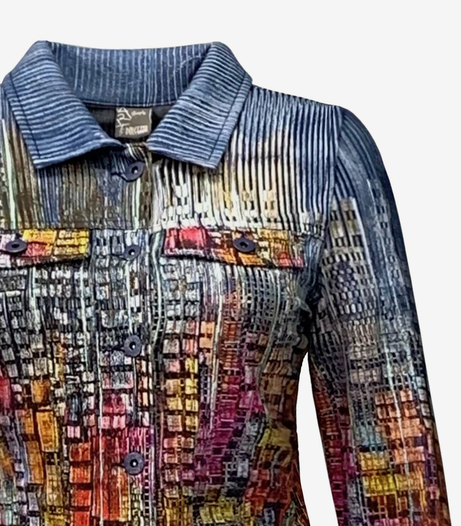 Simply Art Dolcezza: Papillons Of The Night Abstract Art Soft Denim Jacket (1 Left!)