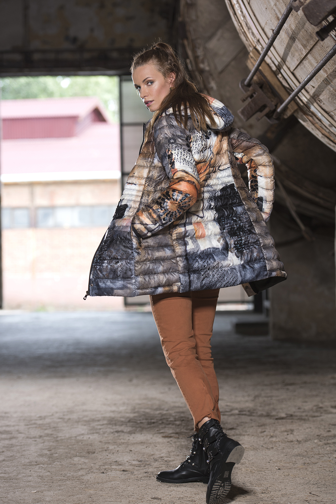 Simply Art Dolcezza: Romantic Rhythm Quilled Abstract Art Puffer Coat (2 Left!)