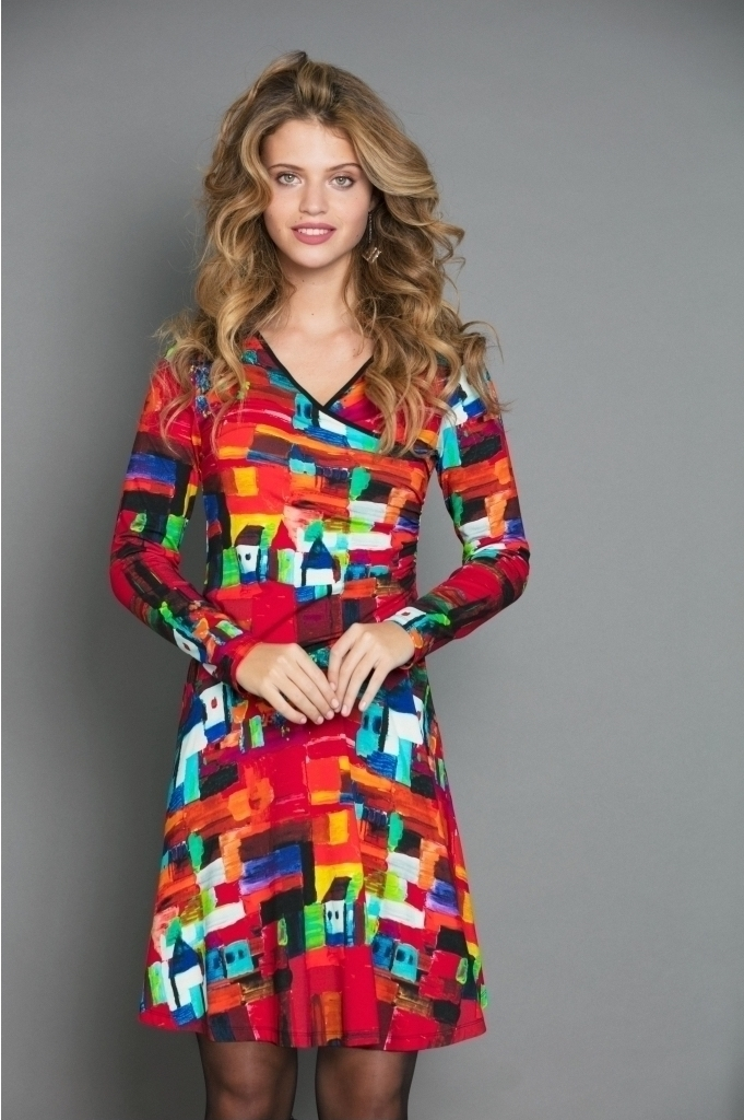 Maloka: French Fairytale Village Abstract Art Crossover Dress (More Arrived!) MK_VERTIGE_N