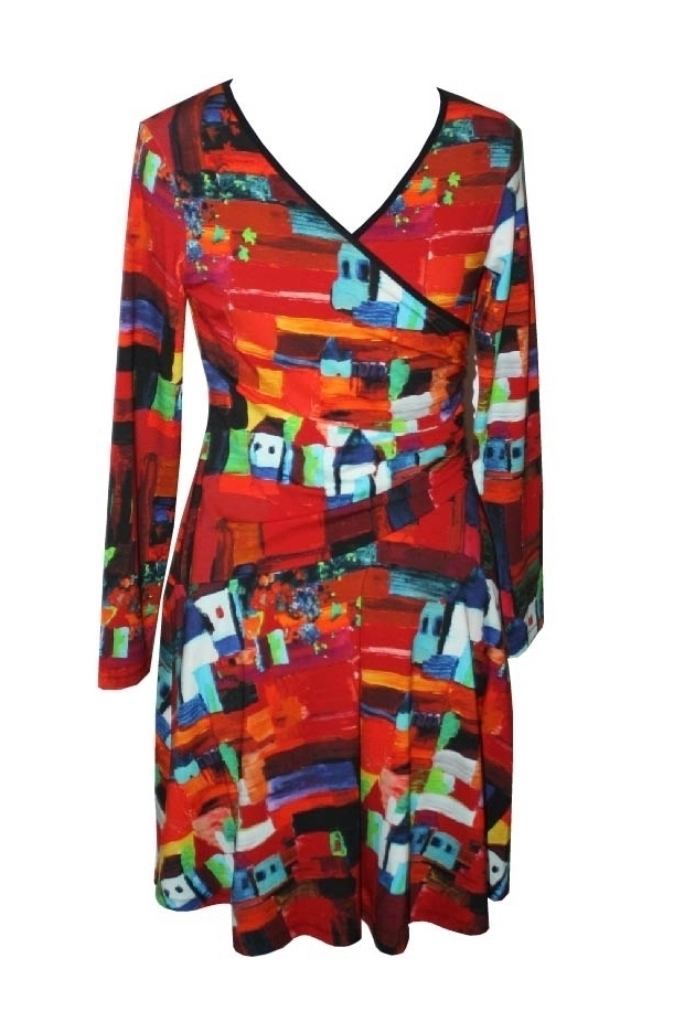 Maloka: French Fairytale Village Abstract Art Crossover Dress (More Arrived!)