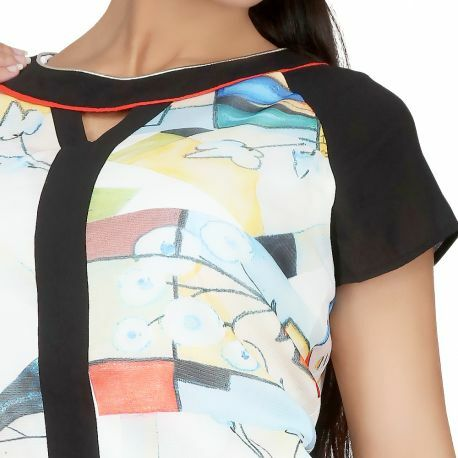 S'Quise Paris: Keyhole Abstract Art Tunic
