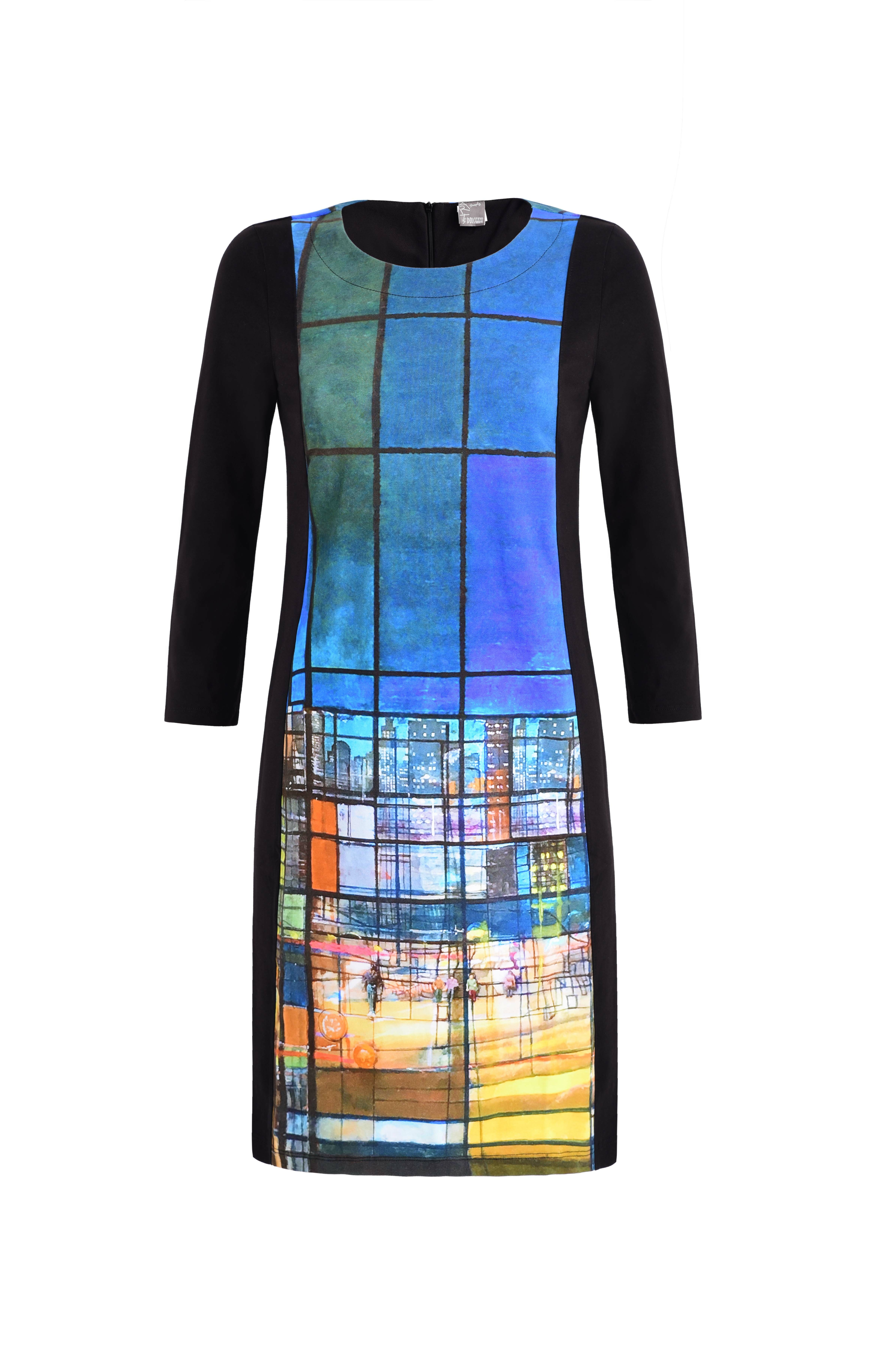 Simply Art Dolcezza: Colors Of Ville La Nuit Abstract Art Dress (2 Left!) Dolcezza_SimplyArt_59714