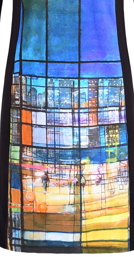 Simply Art Dolcezza: Colors Of Ville La Nuit Abstract Art Dress (2 Left!)