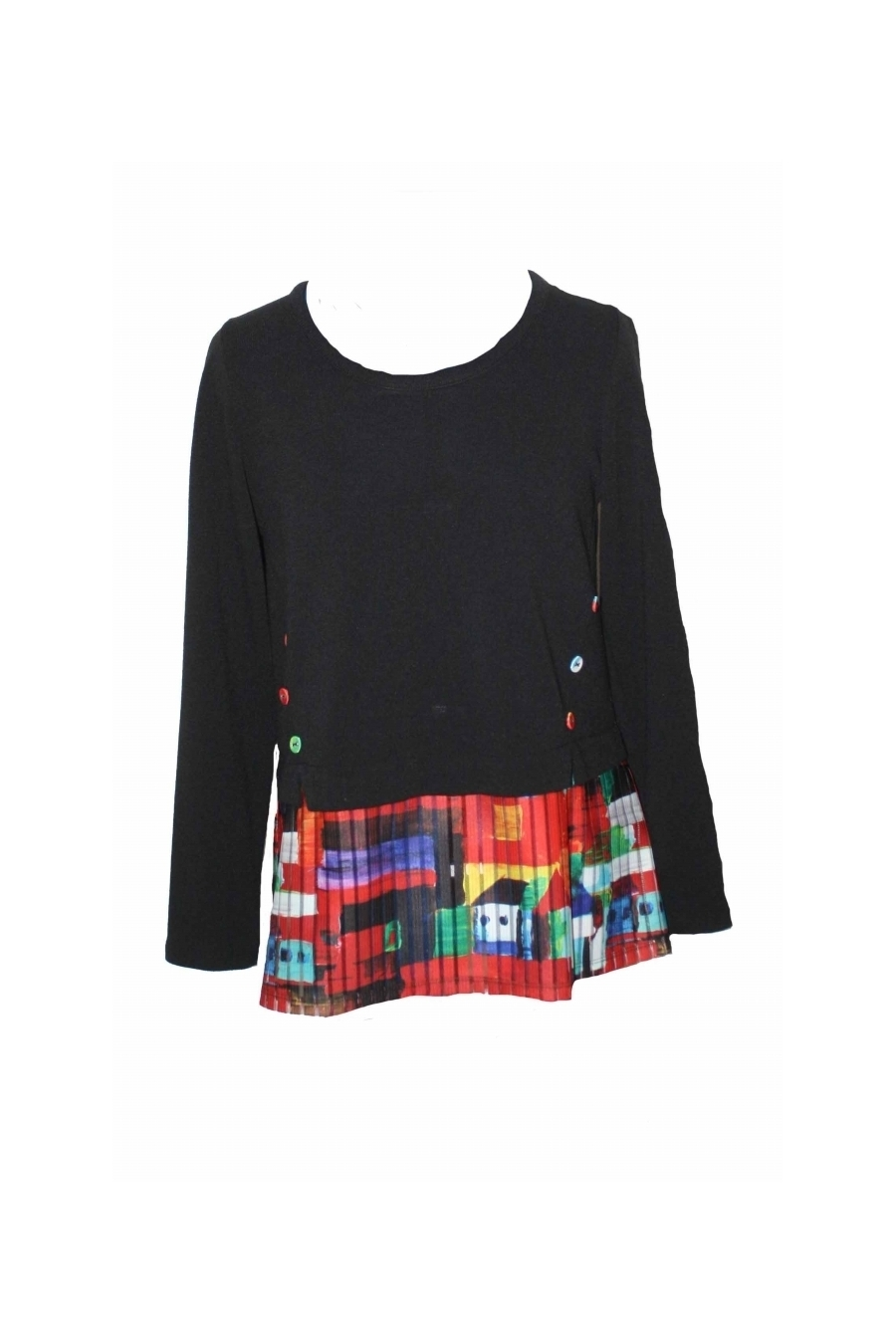 Maloka: French Fairytale Village Abstract Art Flared Sweater Tunic (More Arrived!)