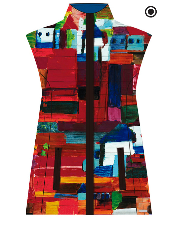 Maloka: French Fairytale Village Abstract Art Vest (Few Left, More Colors!)