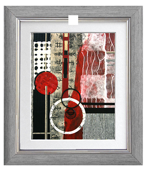 Simply Art Dolcezza: Pretty In Red Extraordinary Abstract Art Top