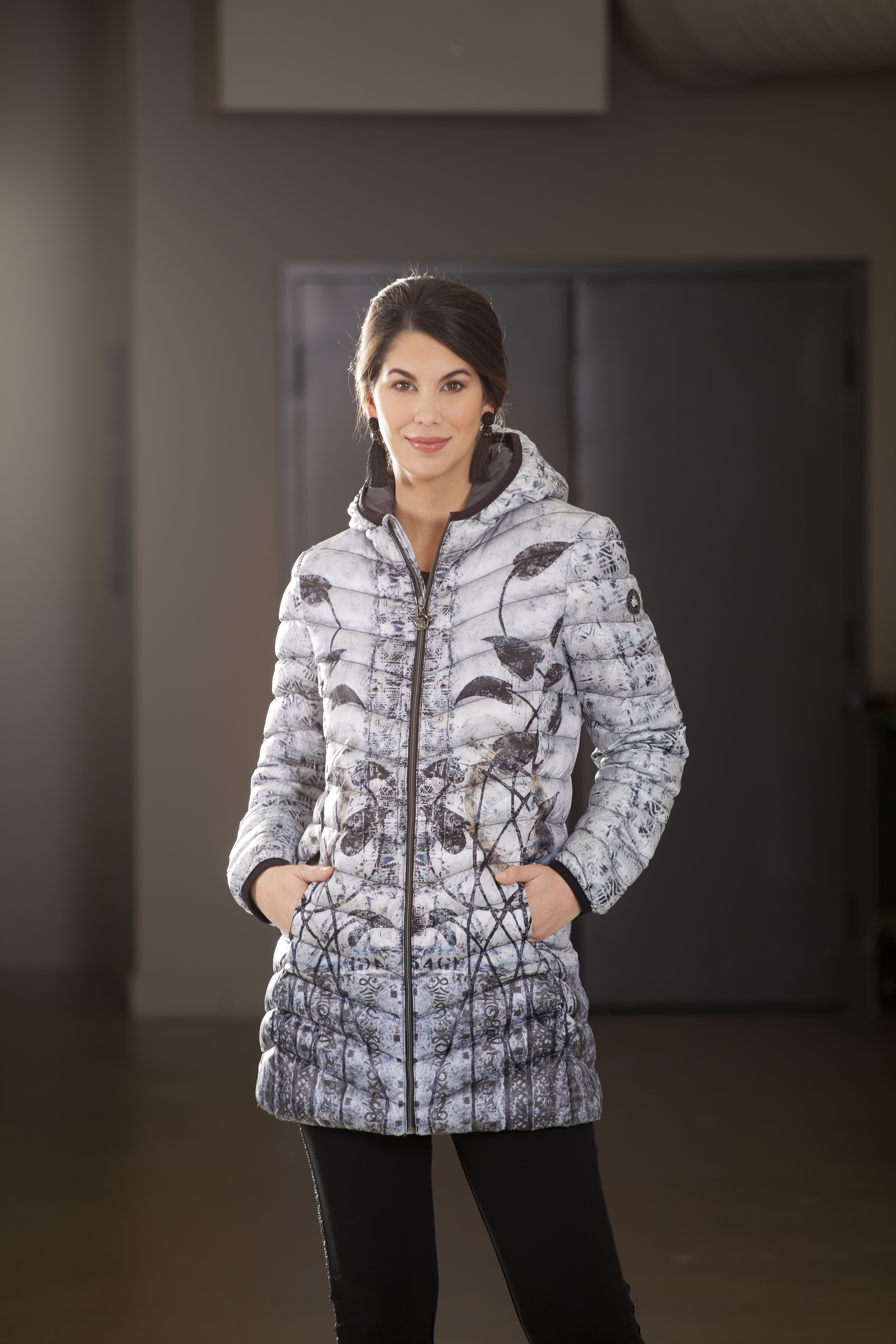 Simply Art Dolcezza: Random Acts Of Petal Beauty Abstract Art Puffer Coat SOLD OUT