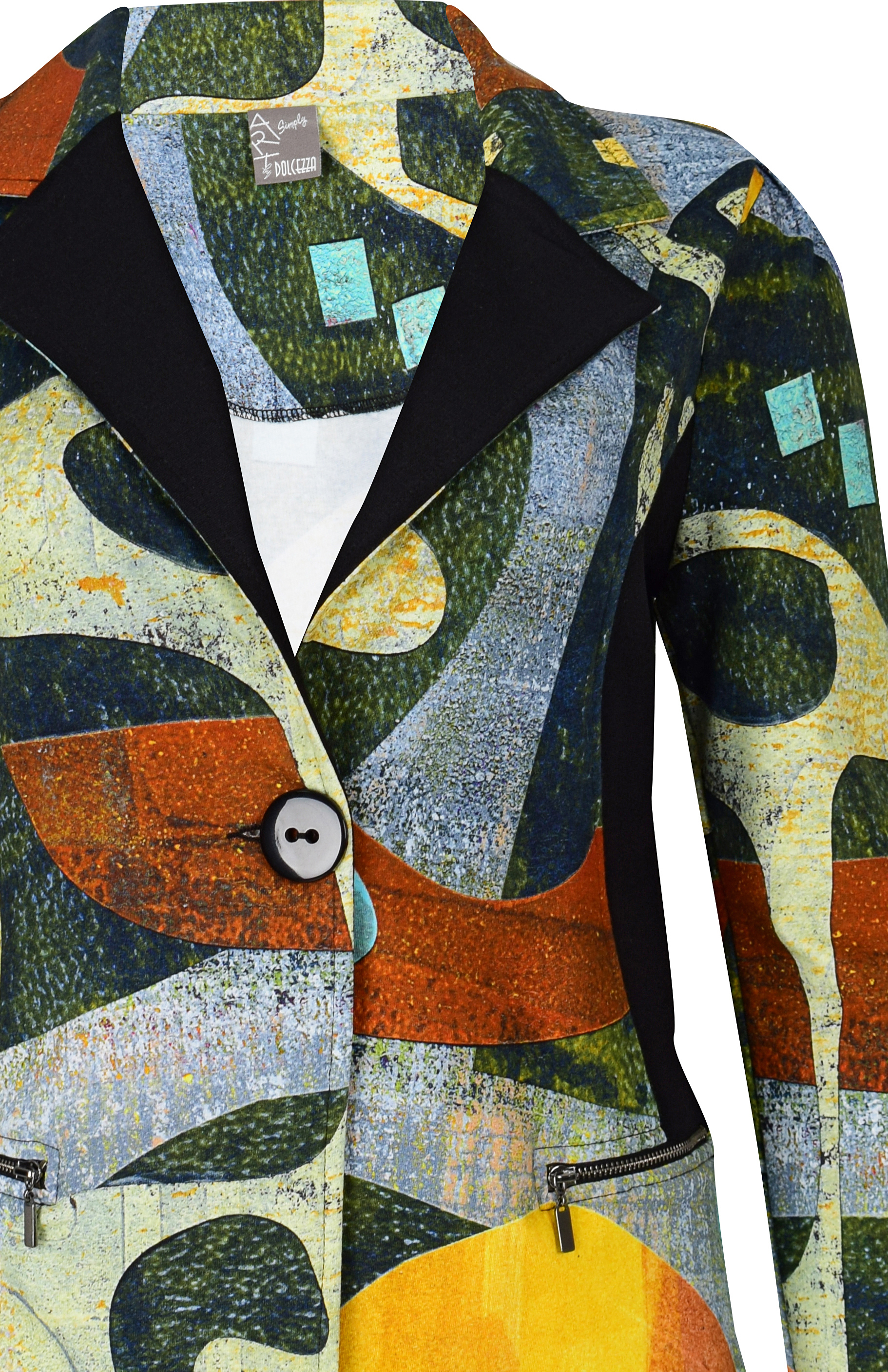 Simply Art Dolcezza: Small Collage Of Eclecticism Abstract Art Jacket