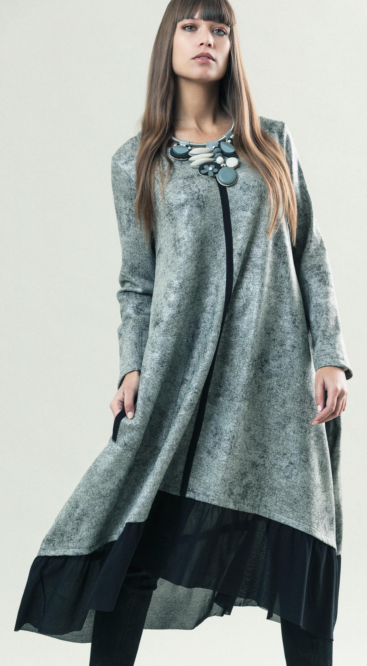 G!oze France: Platinum Devil Trapeze Pocket Dress (2 Left!) G_COCOON