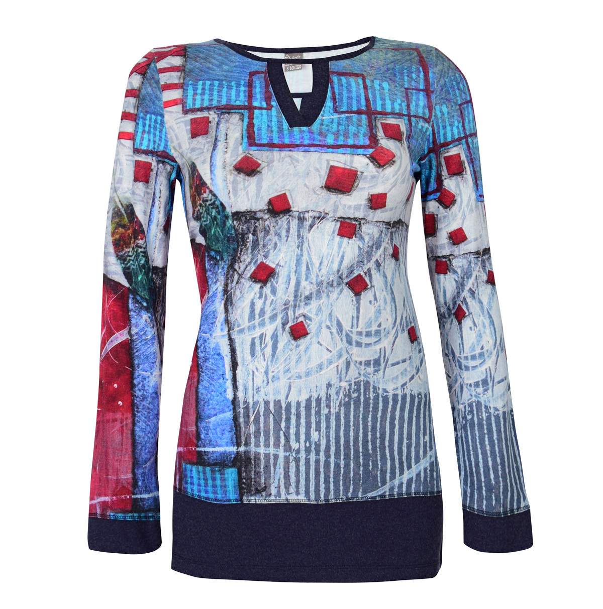 Simply Art Dolcezza: Only Love Spiritually Square Abstract Art Tunic Dolcezza_SimplyArt_59662