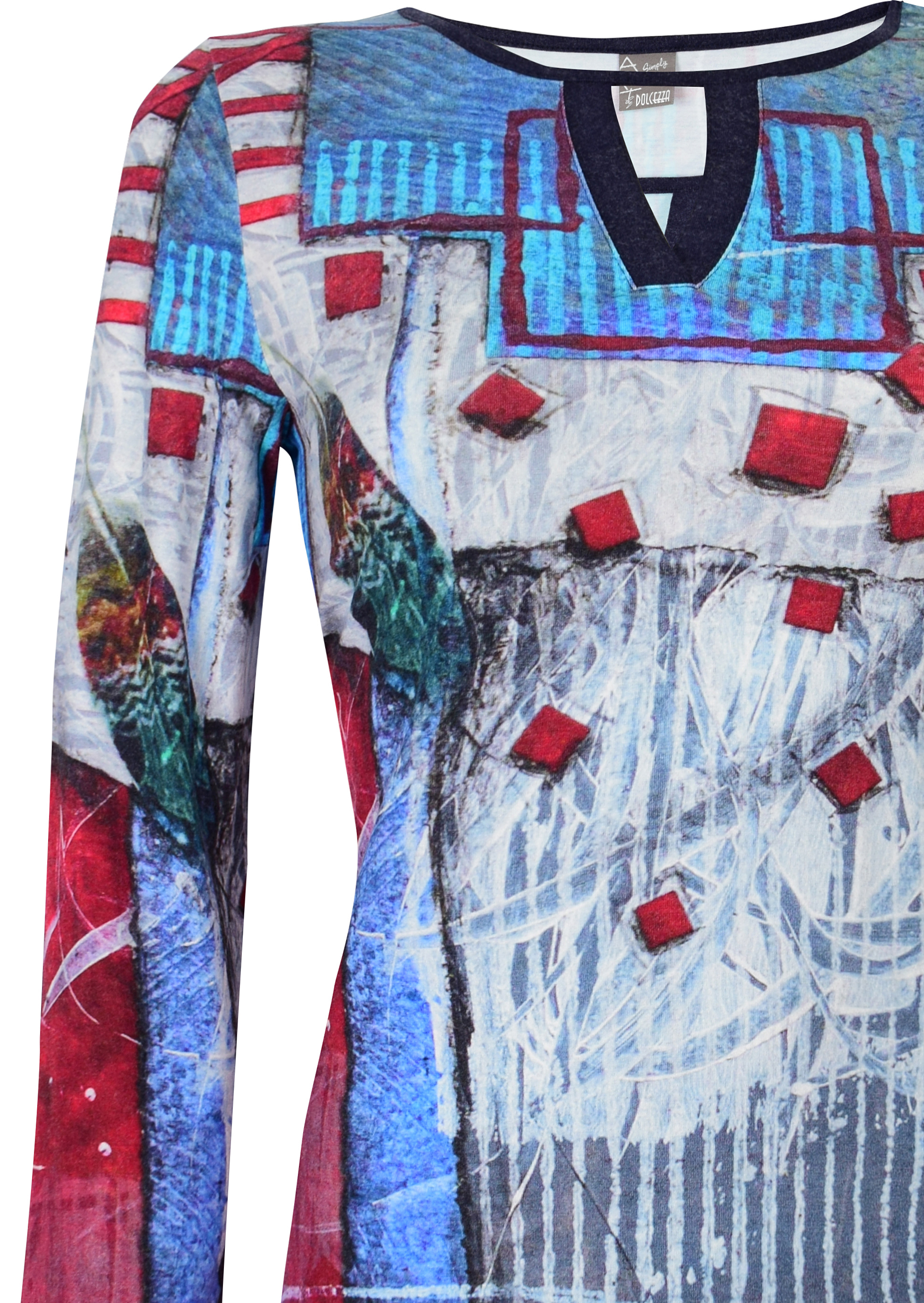 Simply Art Dolcezza: Only Love Spiritually Square Abstract Art Tunic