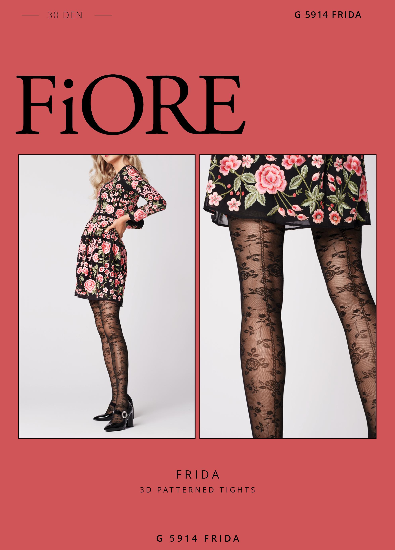 Fiore: Floristic Art Frida T-band Tights