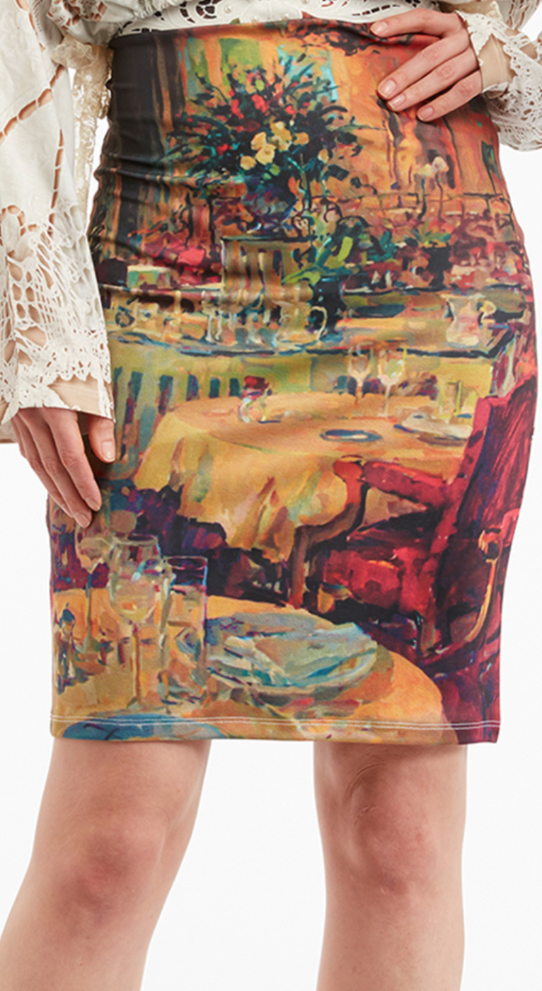 IPNG: Backwards Pink Living Room Illusion Poetic Layers Skirt IPNG_PLSKM-072