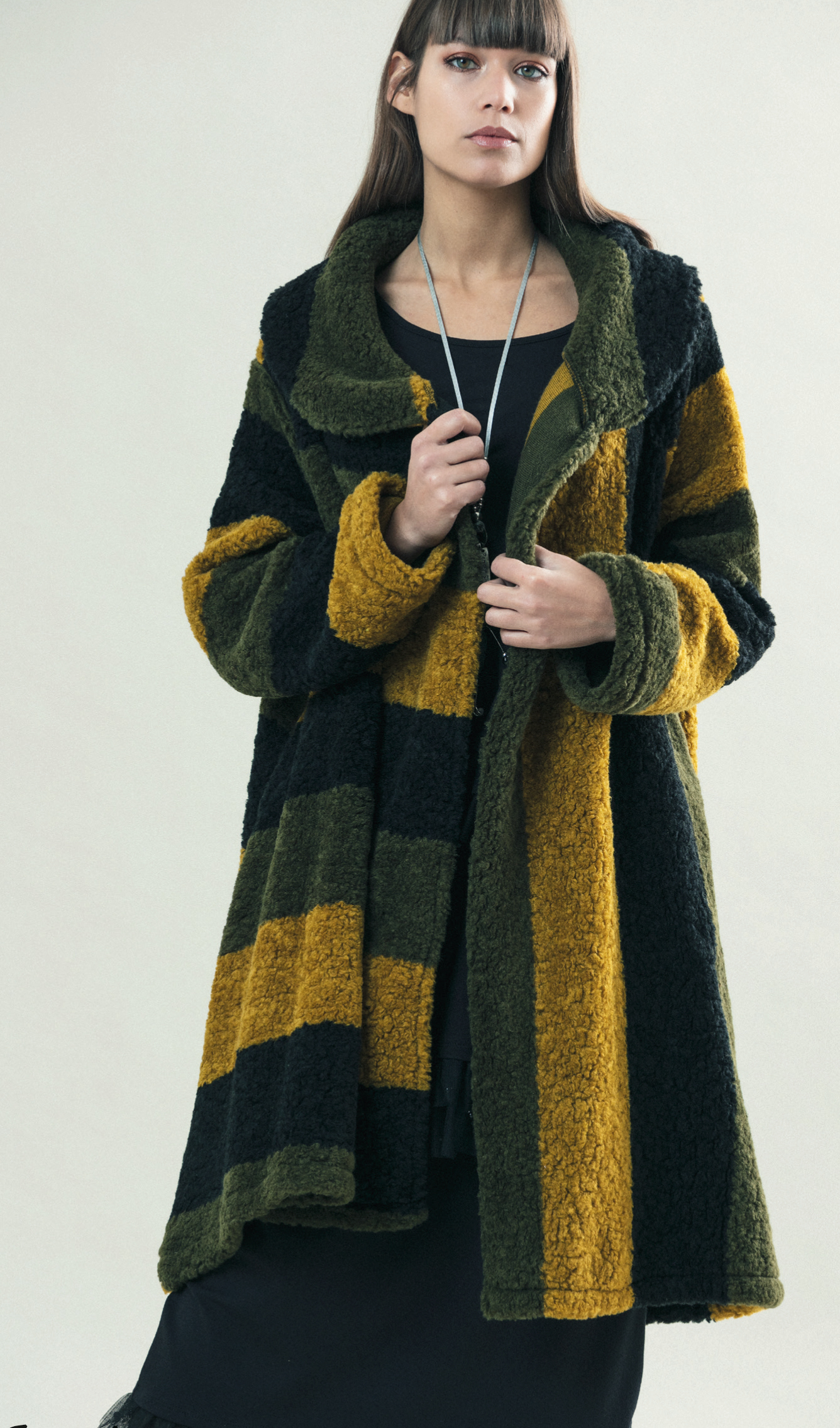 G!OZE: Color Contrast High Low Wool Coat (Few Left!) G_CELTE
