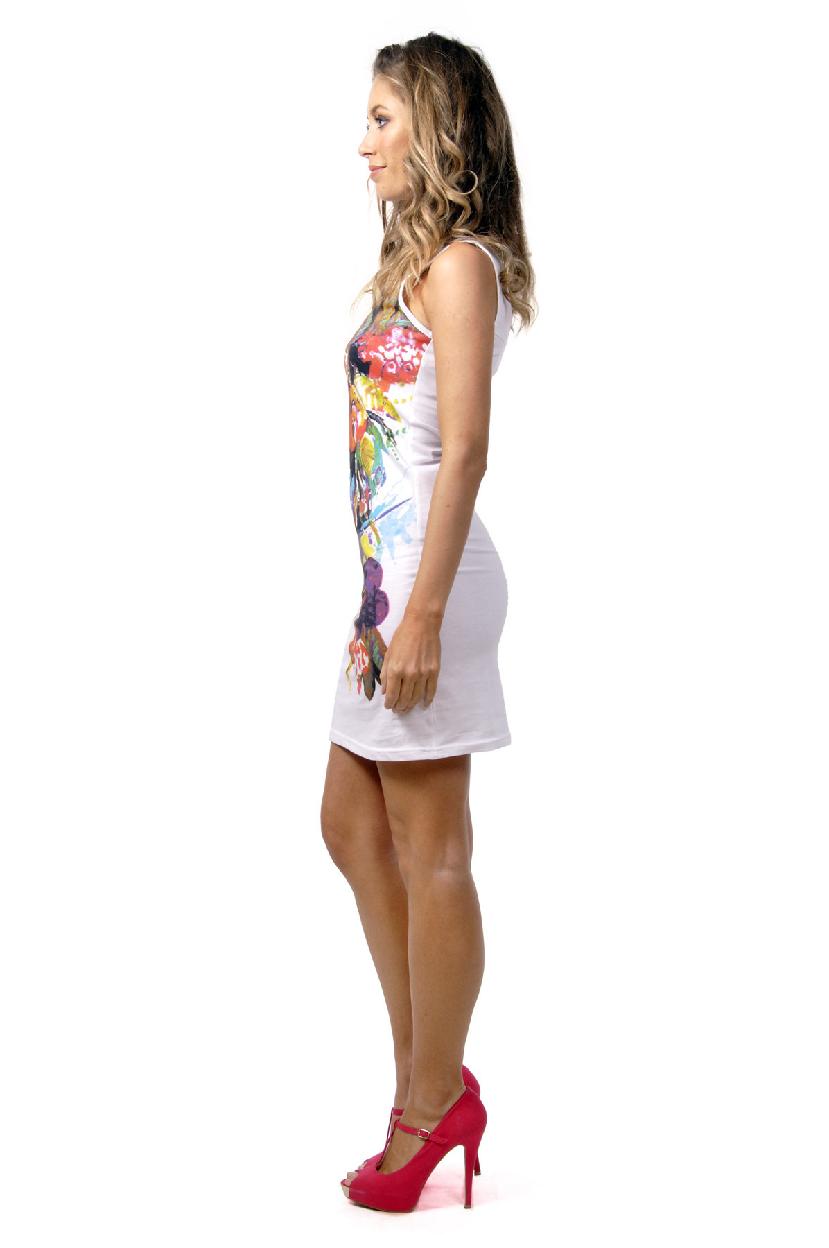Savage Culture: Tropical Rose Chic Charlize Sleeveless Sundress (2 Left!)