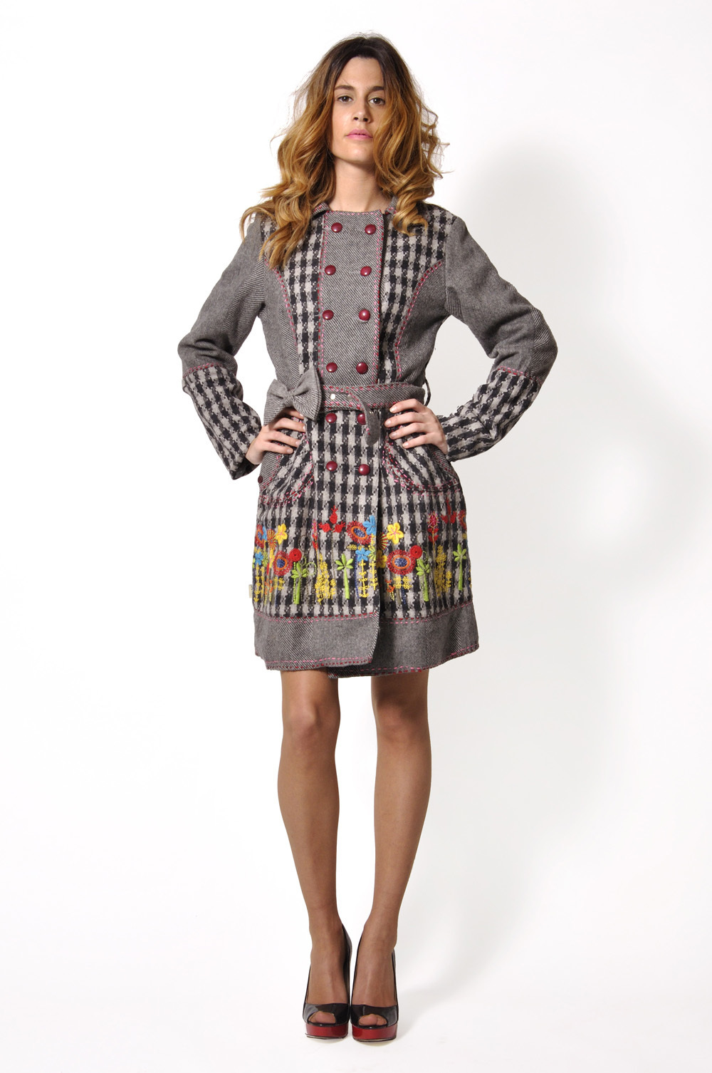 Savage Culture: Lovely Wool Bow Coat Anita (1 Left!)