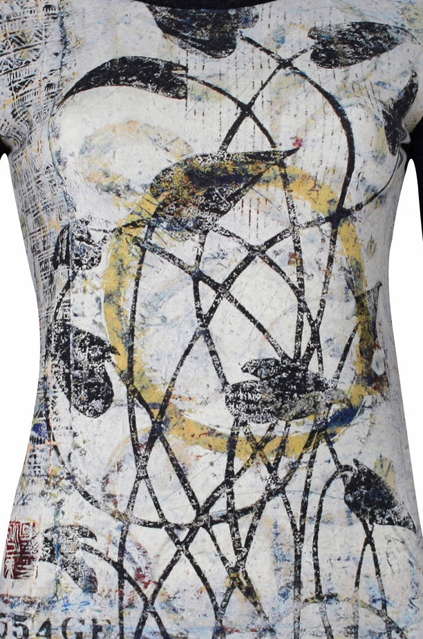 Simply Art Dolcezza: Random Acts Of Petal Beauty Abstract Art Sweater Top